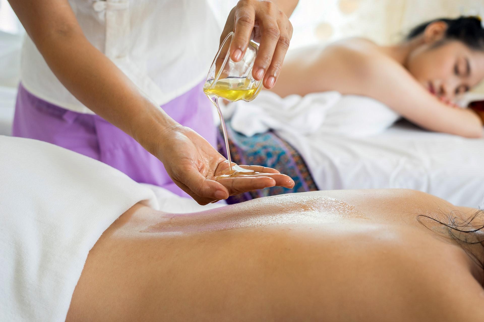 getting a massage